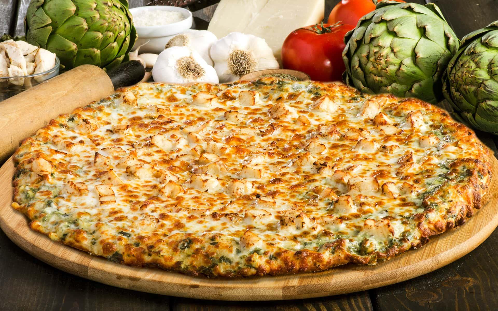 Sir Pizza Chicken Spinach Artichoke Pizza