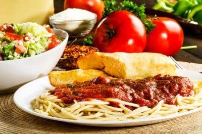 sir pizza spaghetti dinner