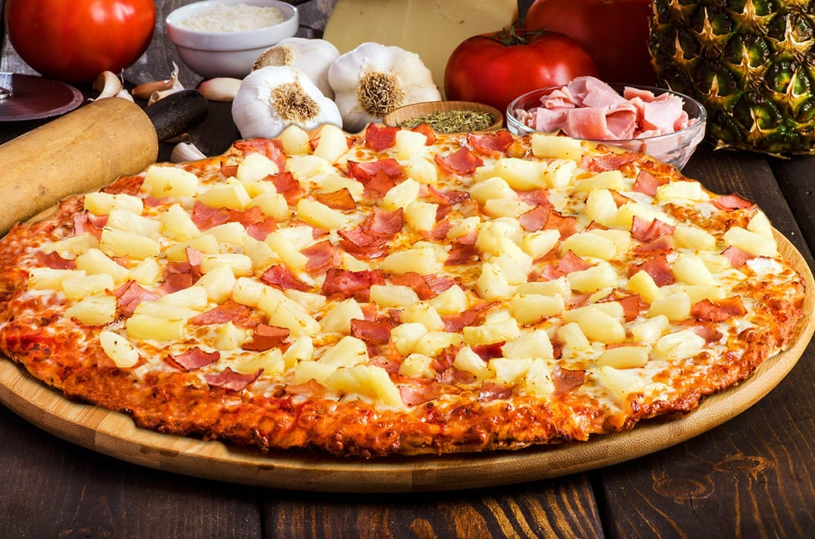sir pizza ham Hawaiian pizza