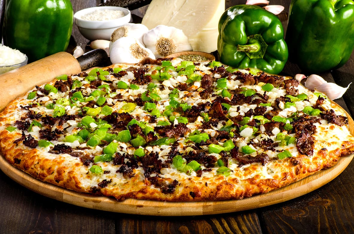 Sir Pizza Philly Cheese Steak Pizza