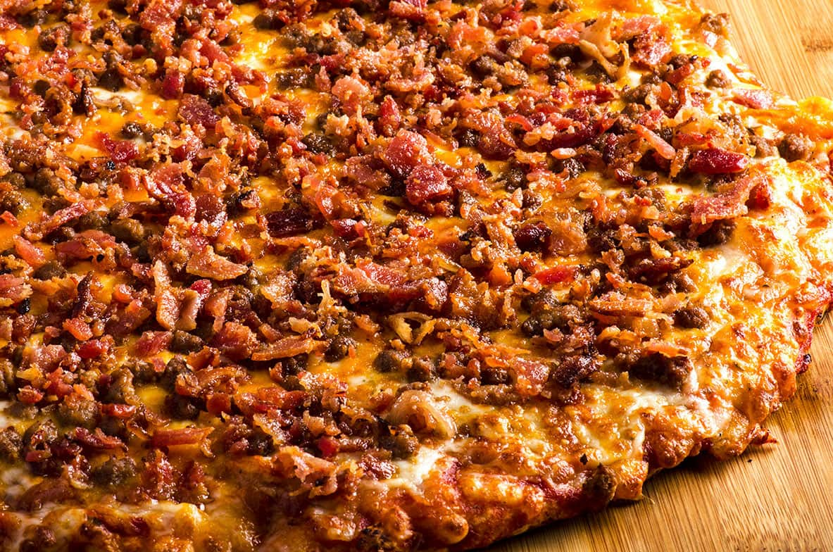 Bacon Cheeseburger Pizza Lansing