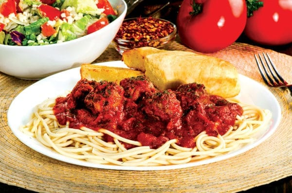 sir pizza spaghetti meatballs